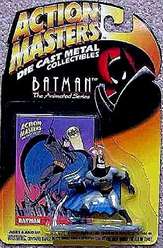 Defensive Batman Die-Cast Metal Collectible Interlocking Figure - Action Masters Batman, The Animated Series by Batman Action Masters