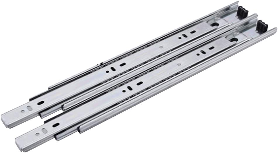 Drawer slide Stainless Super sale period limited New item Steel Rail Silent Ball Track Thre