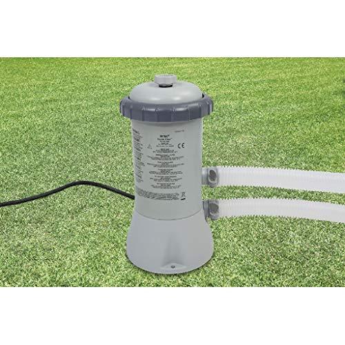 Bomba de filtro de cartucho Intex 600 GPH (12 V), gris, 17.1x18.4x32.8 cm, 28604GS