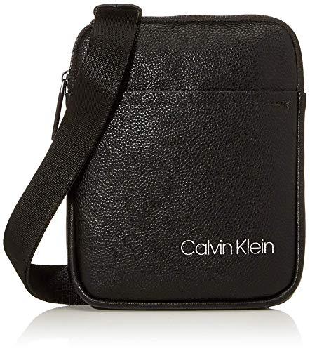 Calvin Klein Herren Ck Direct Mini Flat Crossover Schultertasche, Schwarz (Black), 0.1x0.1x0.1 centimeters
