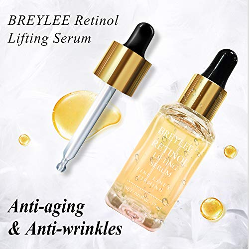 51oowemCv0L - Retinol Serum, BREYLEE Anti Aging Anti Wrinkle Face Serum Vitamin A Retinol with Natural Ingredients for Skin Care Eye Care Fade Lines Acne Scars Dark Spots (17ml, 0.6 Fl Oz)