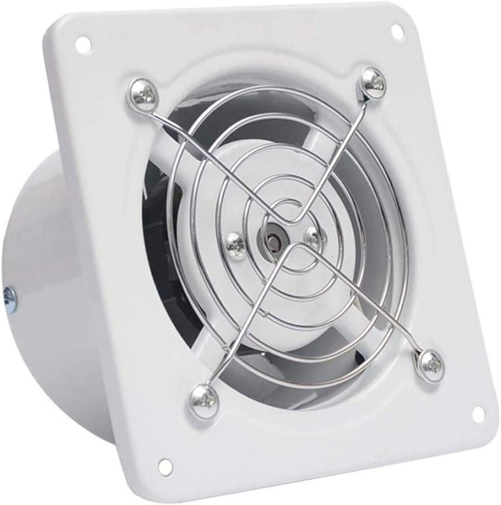 JJZXT Ventilador de ventilación, Blanco del Cuadrado de Techo o de Montaje en Pared de Escape Pared Extractor Ventana de Cristal pequeño silencioso