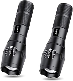 2-Pack LED Tactical Flashlight with Zoomable and 5 Light Modes,As Seen on tv TacLight Flashlight For Camping Hiking etc