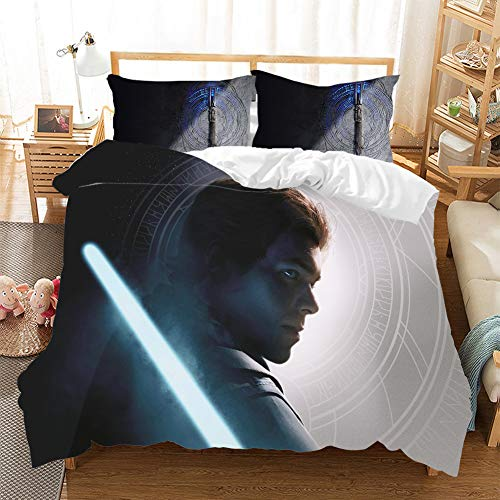 HKYH Guerres de las Estrellas - Juego de cama infantil con impresión 3D, diseño de Star Wars, 220 x 240 cm