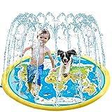 * Materiale premium: il paraspruzzi è realizzato con protezione ambientale e PVC resistente, che non danneggerà la salute dei bambini. Il buon effetto di spruzzo d'acqua può fornire ai bambini un ambiente di gioco confortevole. * Installazione sempli...