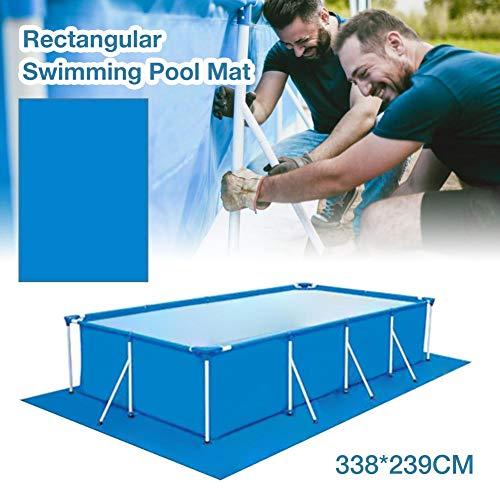Eruditter Bodenplane Pool Rechteckig, Faltbare Regenfeste Poolplane Boden Bodenschutzfliesen Pool, Strapazierfähiges planschbecken Pool, Pool bodenplane 338 X 239CM /blau