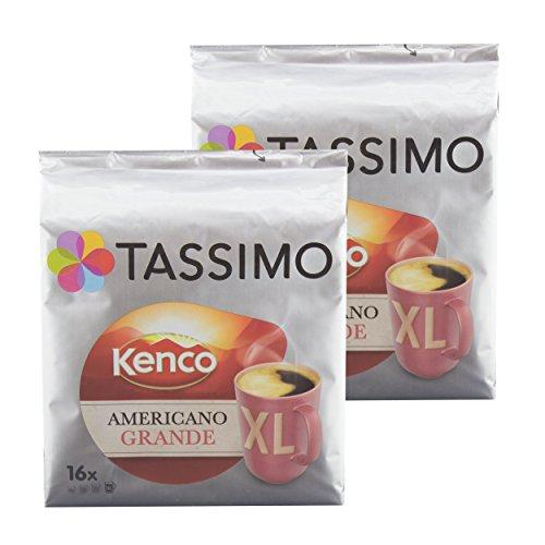 Tassimo Americano Grande XL, Aromatische & Professionelle Röstung, Kaffee, Kaffeekapsel, T-Disc, Röstkaffee, 32 Portionen