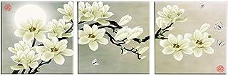 LJFYXZ Decoración De Arte De Pared Imprime Simplicidad Moderna Flores abstractas Cuadros Decorativos Oficina en casa Pared de Fondo Lienzo de Pintura Conjunto de 3 Piezas (sin Marco)