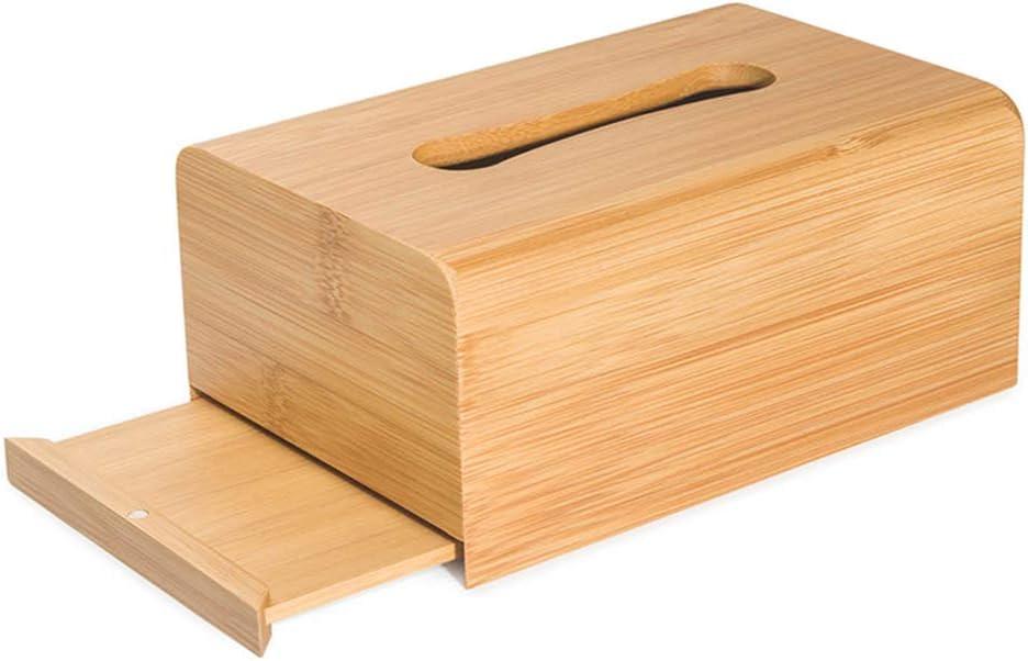 HRXQ Scatola Porta Fazzoletti di Carta in Bamb/ú Porta Fazzoletti Rettangolare Semplice Portafazzoletti Quadrato Tissue Box Cover per Sala da Pranzo,Com/ò,Camera da Letto,3 Stili