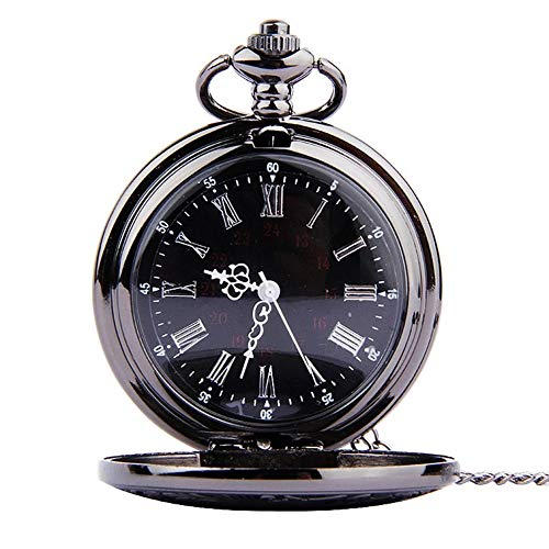 メンズポケットウォッチフルオートマチックメカニカルポケットウォッチユニークな懐中時計パーソナライズされたデザインレトロクォーツローマの懐中時計