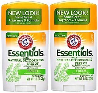 ARM & HAMMER Essentials Solid Deodorant Travel Size, Fresh, 1 Oz (10 Pack)