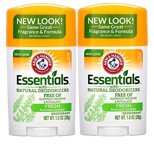 ARM & HAMMER Essentials Solid Deodorant Travel Size, Fresh, 1 Oz (10 Pack)