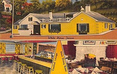 White Horse Tavern Interior Covington Kentucky Linen Vintage Postcard RR86