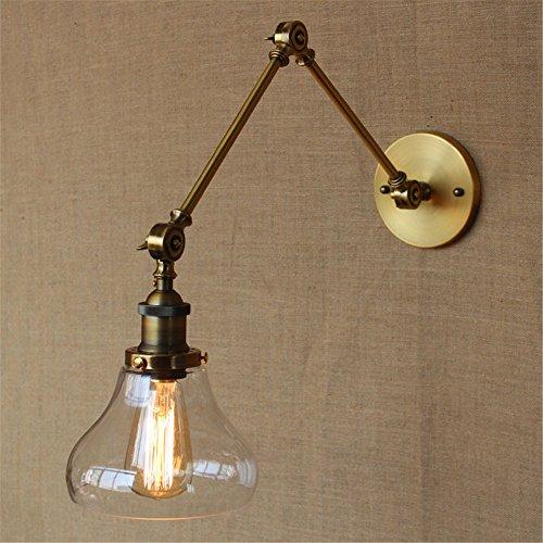 JJZHG Wandlamp wandlamp waterdichte wandverlichting Land Retro pastorale woonkamer eettafel bar dock decoratieve wandlamp, goud / 180 x 240 mm bevat: wandlamp, stoere wandlampen