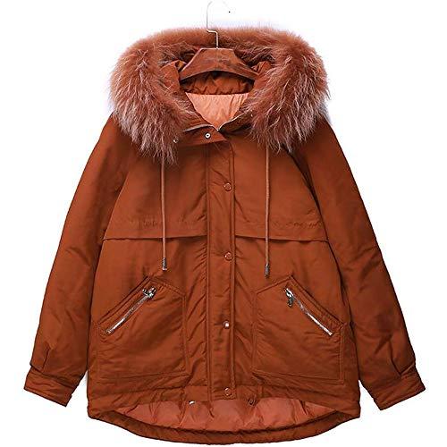 YGB Daunenjacke Damen Lang,Wintermantel Damen Lang Warm mit Steppmantel Kunstlicher Pelz mit Gürtel Winter Mantel
