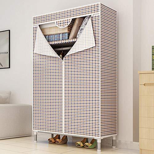 EATCANON Armario De Tela Simple Individual Plegable Tela Oxford Dormitorio Gran Capacidad Armario para Guardar Ropa Impermeable A Prueba De Polvo Celosía De Dos Colores 65 * 46 * 168 Cm