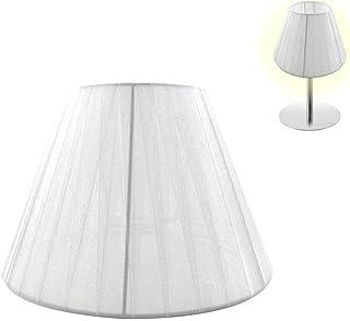 takestop® Pantalla cónica de tela blanca diámetro 20,5 cm cubre bombillas E14 E27 para lámparas de techo, mesa, escritorio, mesilla de noche, casa (diám. 30,5 cm, blanco)