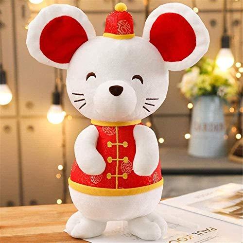 siyat Plüschtier 2020 20 cm Ratte Chinesisches Neujahr China Kleid Maskottchen Ratte Maus in Tang Anzug Plüsch Spielzeug Triver Gefüllte Puppe Parde Dekoration Geburtstagsgeschenk Jikasifa