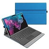 Fintie Hülle für Microsoft Surface Pro 7/ Pro 6/ Pro 5/ Pro 4/ Pro 3 12,3 Zoll Tablet - Multi-Sichtwinkel Hochwertige Tasche Schutzhülle aus Kunstleder, Type Cover kompatibel, Blau