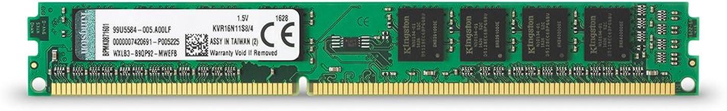 Kingston Value (KVR16N11S8/4) RAM 4GB 1600MHz PC3-12800 DDR3 Non-ECC CL11 DIMM SR x8 Desktop Memory