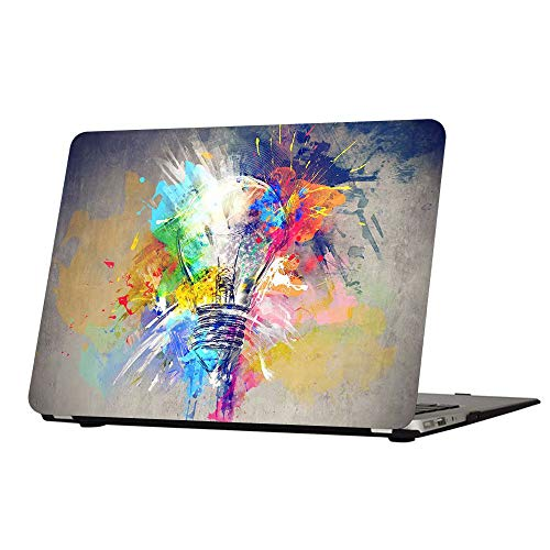 AUSMIX MacBook Air 11 Inch Case, Vibrant Protective Cover Charming Snap Easily Frosted Hand-feel Innovative Stylish Shell ONLY for Mac Air 11' (Models: A1370/A1465) - Creative Lamp