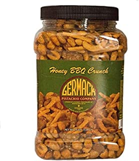 Germack Pistachio Company, Detroit Michigan, Honey BBQ Crunch Snack Mix, Honey Toasted Peanuts, Sesame Chips, Nacho Corn Sticks, Roasted BBQ Corn,19 oz.