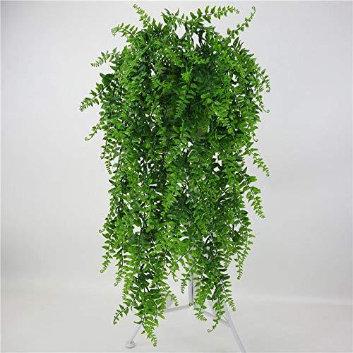 Sureh 2 Stück hängende Rankenpflanze Boston Farn Bush Kunststoff Greenery Dekor für Blumenarrangements, Hochzeit Party Garten Wanddekoration