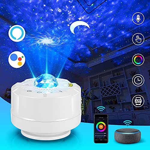 Star Projector, 3 in 1 Galaxy Projector Moon Night Light Projector for Kids Bedroom,Works with Alexa Google Assistant,Touch Control,Voice Control and Timer for Home Ceiling/Game Rooms/Party/Birthday