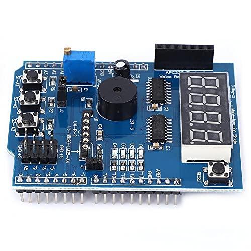 Wlongtor Kit básico de aprendizaje de escudo de placa de expansión multifuncional para Arduino UNO R3