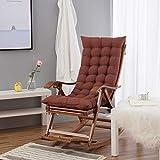 DLPY Interiores Aire Libre Chaise Lounge Cojines, con 6 Corbatas Respaldo Alto Patio Chaise Lounger Cojín para El Jardín Sillón Sol Balcón -a 122x50x8cm(48x20x3inch)