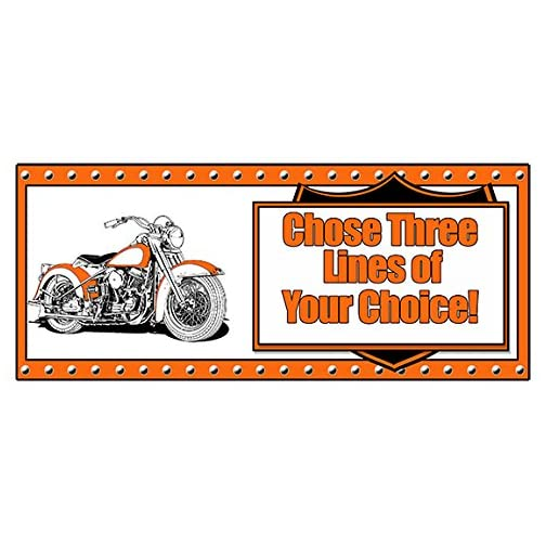 """Partypro Personalized HAWG Motorcycle Banner (18"""" x 40"""") Customized 