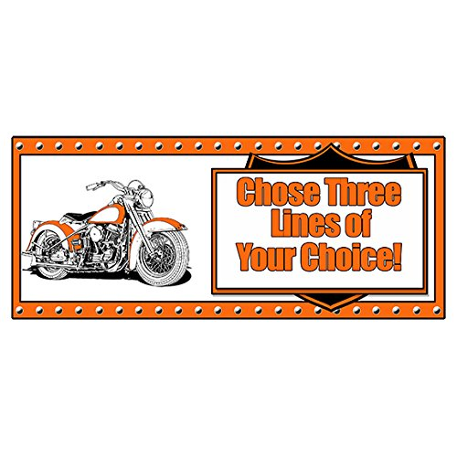 """Partypro Personalized HAWG Motorcycle Banner (18"""" x 40"""") Customized"""