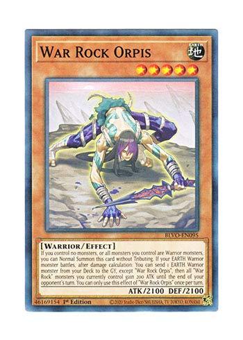 遊戯王 英語版 BLVO-EN095 War Rock Orpis (ノーマル) 1st Edition