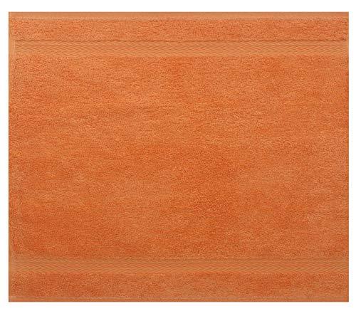 Betz Serviette débarbouillette Lavette Taille 30 x 30 cm 100% Coton Premium Couleur Orange