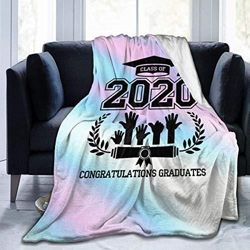 Moily Fayshow Seniors Class of 2020 Graduate Blanket Flannel Fleece Throw Lightweight Cozy Couch Bed Edredón de Felpa Suave y cálido 60 'x50'