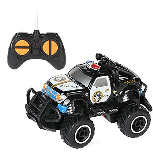 WZRYBHSD Coche De Control Remoto Para Niños Pequeños 1/43 Simulación Modelo De Coche De Policía Camión RC Para Exteriores E Interiores Vehículo Todoterreno Carreras Eléctricas Regalos De Cumpleaños De