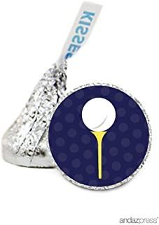 Andaz Press Chocolate Drop Labels Stickers, Birthday, Golf, 216-Pack, for Hershey's Kisses Party Favors, Gifts, Decorations