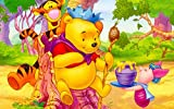znwrr 1000 Piece Jigsaw PaperPuzzle Winnie The Pooh Honey Jar For Adults Children Puzzle Kids Games | Puzzles Educational Toys Decompression Gifts For Boys And Girls 38x26cm