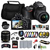 Nikon D3500 DSLR Camera with 18-55mm Lens (1590) USA Model + 64GB Card + 2 x EN-EL14a Battery + Corel Photo Software + Case + 3 Piece Filter Kit + Telephoto Lens + Color Filter Kit + More