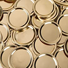Generic (Made by Ball) Wide Gold Mouth Size Mason Jar Canning Lids, 48 Lids, (4 Dozen), (Lids Only, No Bands or Rings), Plain Label, No Name Brand on Lids, No Advertising on Lids Bulk