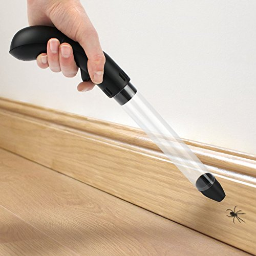 Pukkr Poderosa aspiradora de insectos de mano   Humana insecto y araña Catcher   Trampa de succión electrónica   Incluye Luz LED Brillante Para Detrás de Sofá Grietas y Grietas