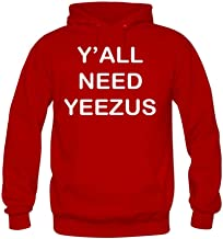 Diy Men's Casual Y'all Need Yeezus Printed Graphic Pullover hoodies YHLN