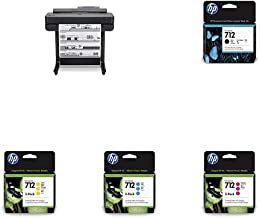 """HP DesignJet T650 Large Format Wireless Plotter Printer - 24"""" (5HB08A), with Multipack and High-Capacity Genuine Ink Cartr..."""