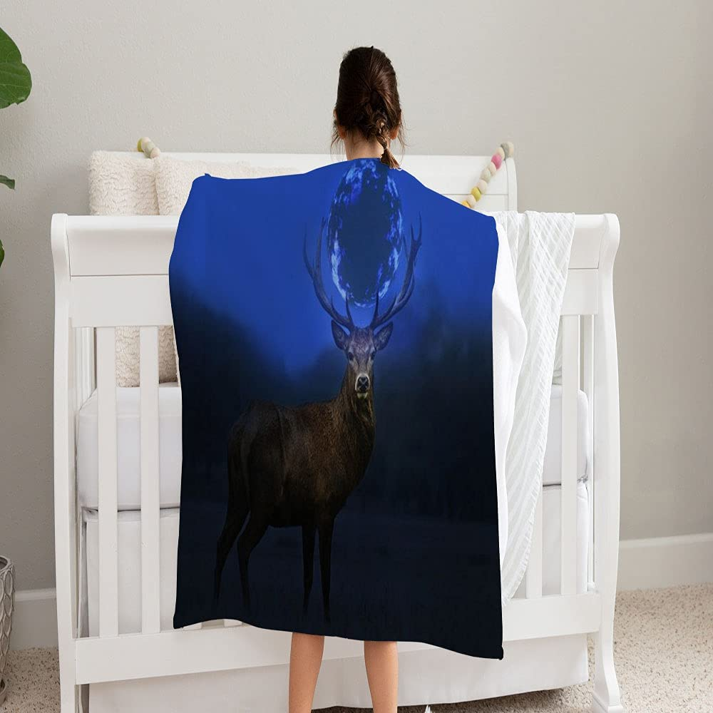 GANTEE Magic Deer Middle Darkness Max 59% OFF Blanket and Super Soft F Cozy Max 45% OFF