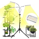 Plant Grow Light for Indoor Plants Full Spectrum with Stand for Your Indoor Garden, 150W Auto On/Off Timing Function Led Grow Light, Tripod Stand Adjustable for Succulent and Seedling