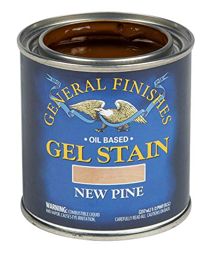 General Finishes Oil Base Gel Stain, 1/2 Pint, New Pine