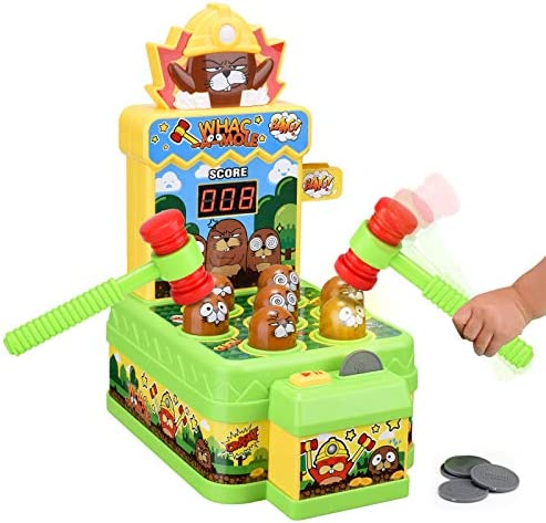 Crazy Whack A Mole Toddler Toys for 2 3 4 5 6 Year Old Boys Girls Gifts Arcade Games Counting product image
