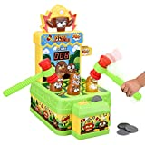 Crazy Whack A Mole Toddler Toys for 2 3 4 5 6 Year Old Boys Girls Gifts Arcade Games Counting Score Mouse Trap Kids Toys Interactive Learning Early Developmental Forg Blippi Toys with 2 Hammers