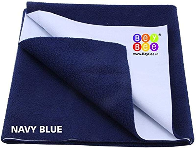 Bey Bee Premium Quality Bed Pad Water Resistant Bed Protector Baby Dry Sheet Waterproof And Washable Mattress Protector Crib Sheets Cot Sheets Underpad Sheet Medium 100m X 70 Cm Dark Blue