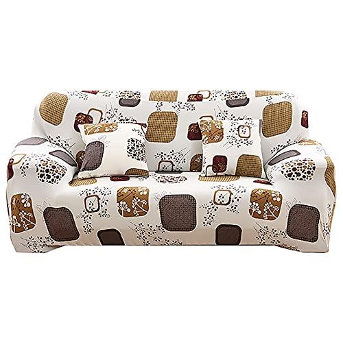 ASCV Funda de sofá para el hogar para Sala de Estar Fundas de sofá elásticas Envoltura Ajustada Funda de sofá seccional de tamaño estándar con Todo Incluido A6 1 Plaza